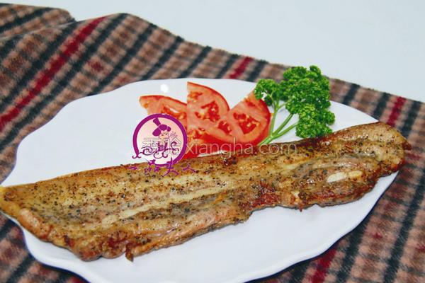 烤山猪肉的做法