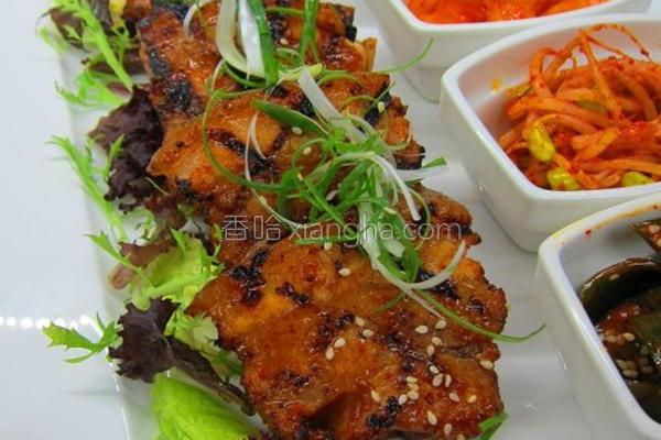 韩式烧烤五花肉的做法