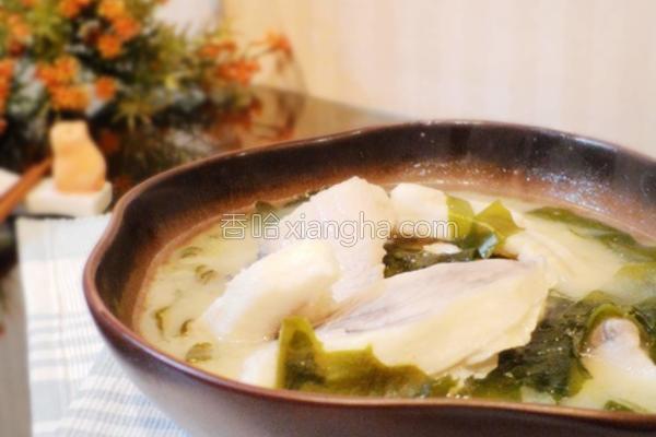 海菜鲜鱼味噌汤的做法