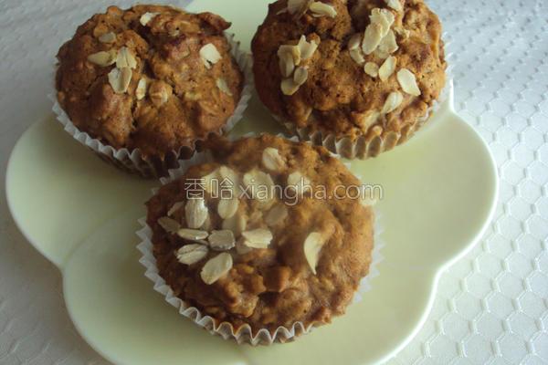 燕麦苹果小蛋糕的做法