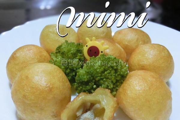 菇菇番薯QQ球的做法