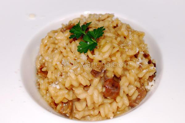 牛肝菌菇炖饭的做法