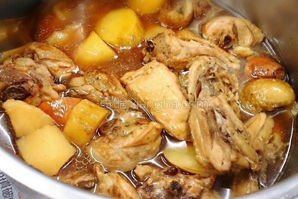 橙汁照烧地瓜鸡的做法