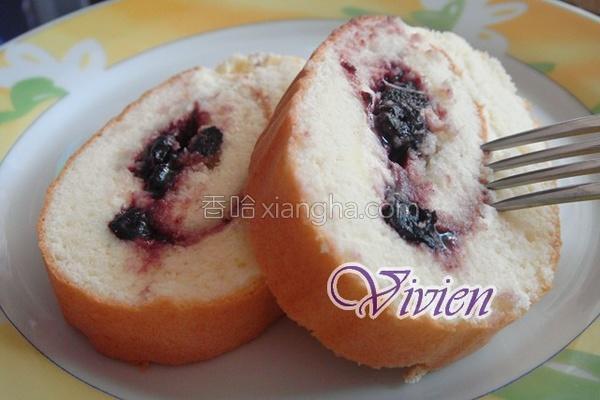蓝莓蛋糕卷的做法