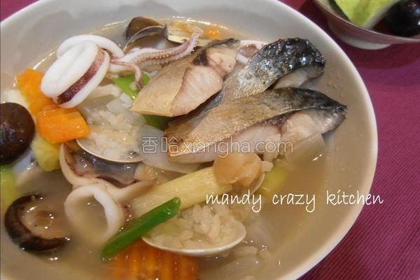 鲭鱼海鲜粥的做法