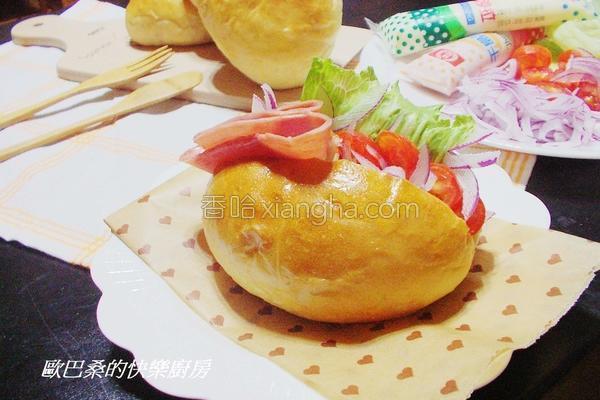 芙蓉豆腐沙拉餐包的做法