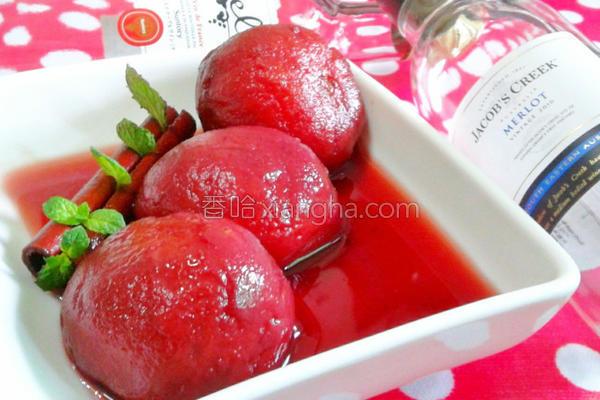 肉桂红酒番茄的做法