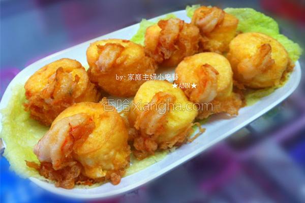 日本豆腐假虾球的做法