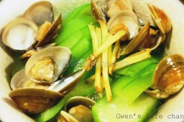 丝瓜蚵蜊的做法
