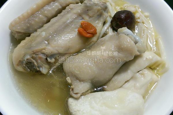 红枣枸杞菇菇鸡汤的做法