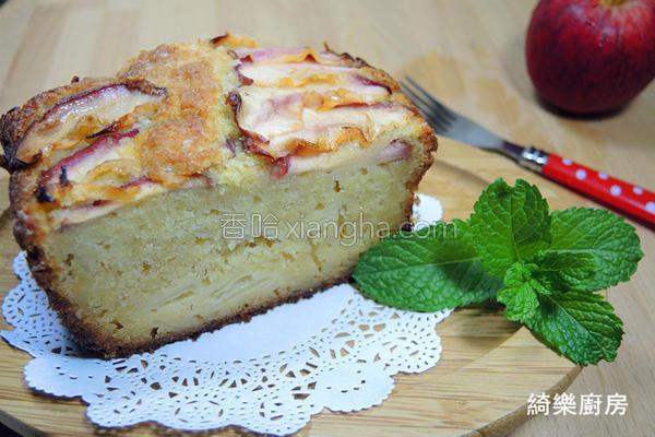 奶油苹果磅蛋糕的做法