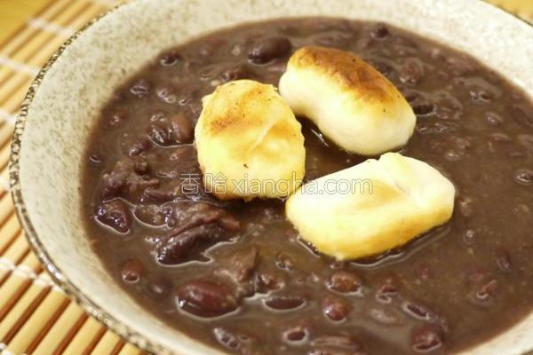 红豆汤年糕的做法