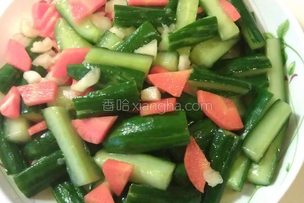 凉拌蒜味小黄瓜的做法