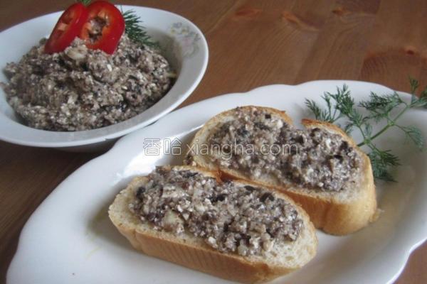 俄式洋菇橄榄抹酱的做法