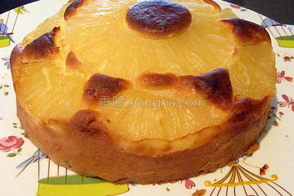 菠萝蛋糕的做法