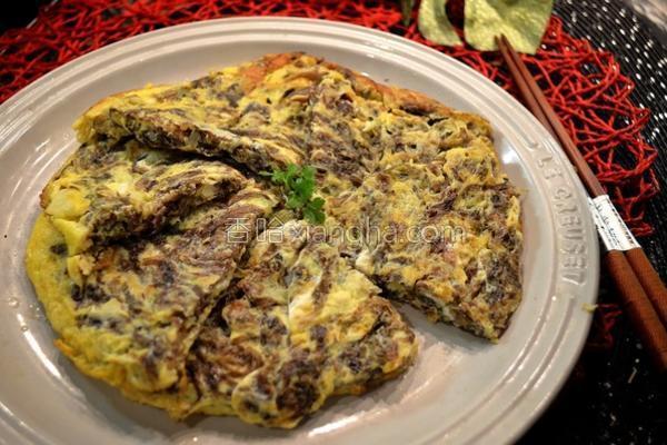 紫菜银鱼煎蛋的做法