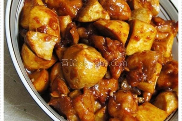 酱烧杏鲍菇鸡丁的做法
