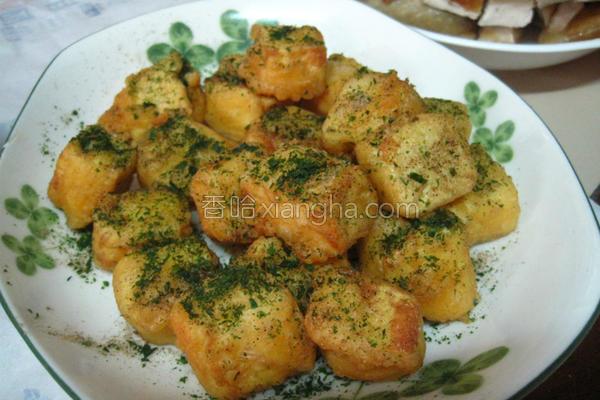 黄金海苔豆腐的做法