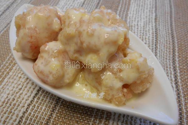 芒果酸奶虾球
