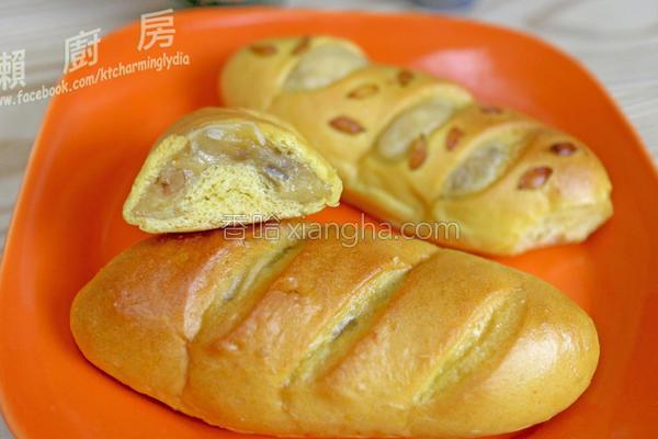 南瓜糯米面包的做法
