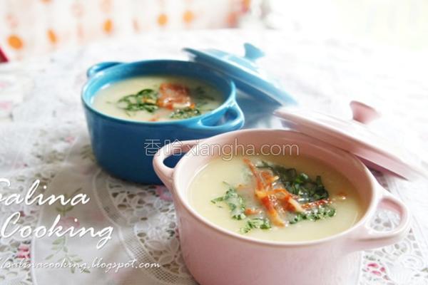 薯蓉青菜汤的做法