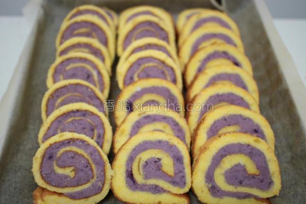 芋仔番薯蛋糕卷的做法