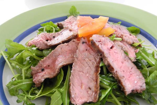 芝麻叶牛肉沙拉的做法
