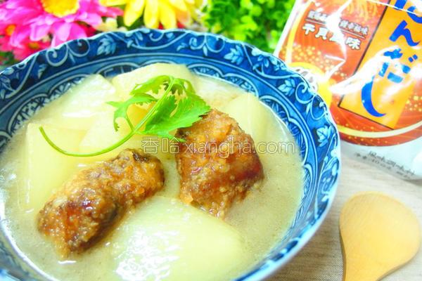白萝卜排骨酥汤的做法