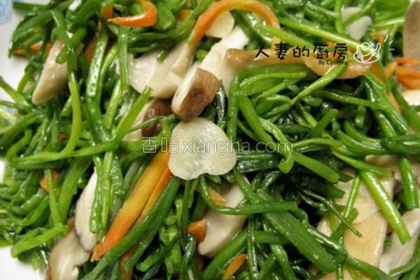 清炒水莲菇的做法