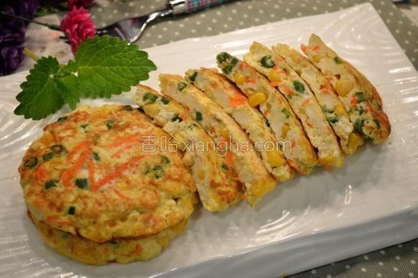 豆腐蔬菜蛋饼的做法