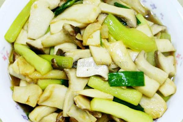 翠瓜蚝油鲜菇的做法