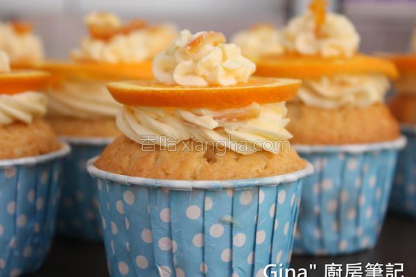甜橙杯子蛋糕的做法