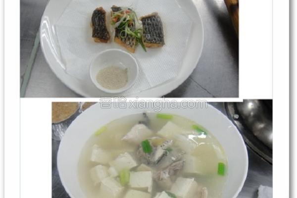 鱼骨豆腐姜丝汤的做法
