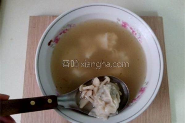 馄饨雪菇汤的做法