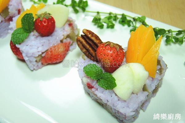 水果蛋糕寿司的做法