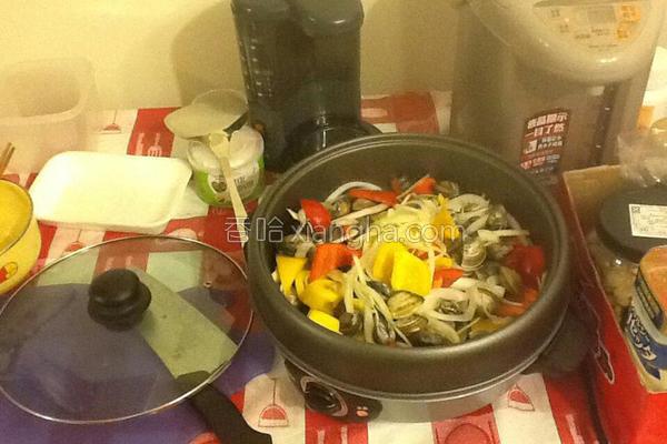 白酒蛤蛎炒甜椒的做法