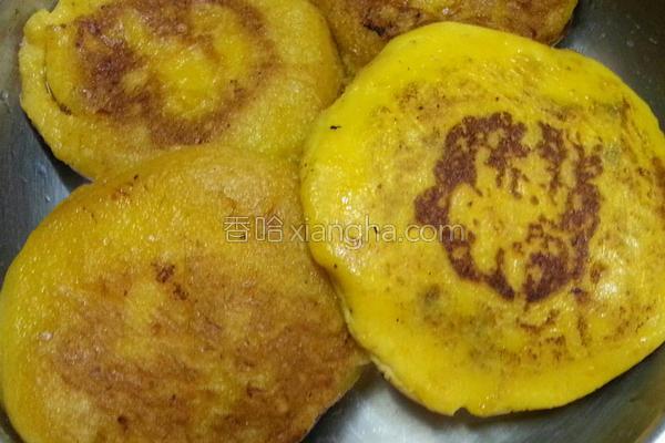 南瓜红豆煎饼的做法