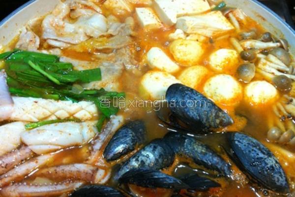 韩式泡菜锅的做法