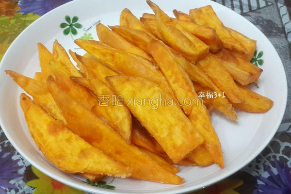 炸地瓜薯条的做法