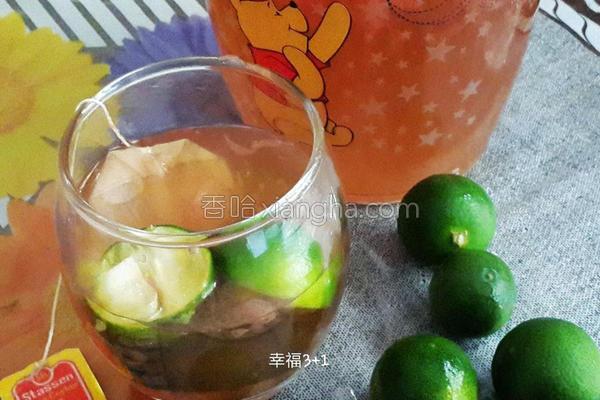 香柚果茶的做法
