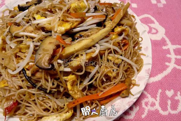 参峇虾炒米粉的做法