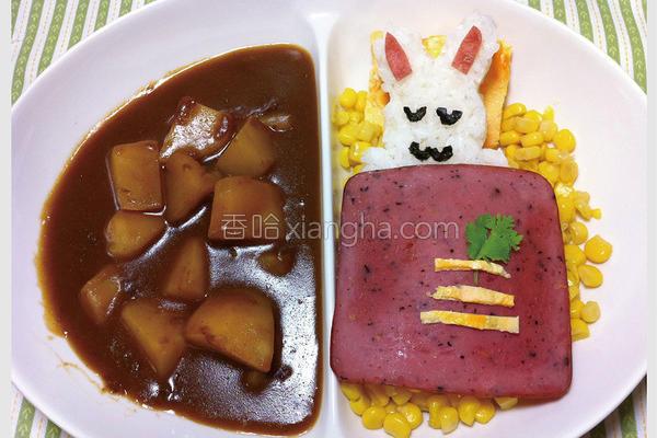 小兔子咖哩饭包的做法