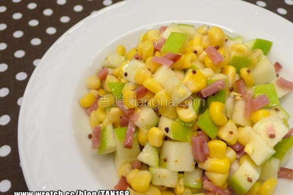 玉米凉拌青苹果的做法