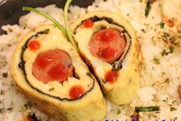 热狗海苔鸡蛋卷的做法