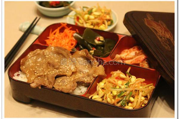 韩式烤肉饭的做法