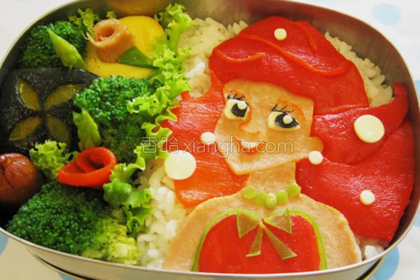 小美人鱼造型便当的做法
