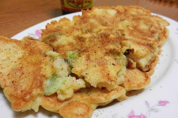 丝瓜煎饼的做法