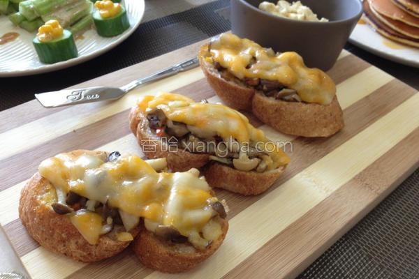 菇菇起司法国面包的做法