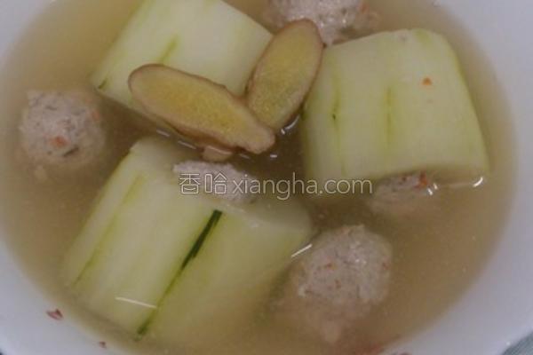 黄瓜饟肉汤的做法