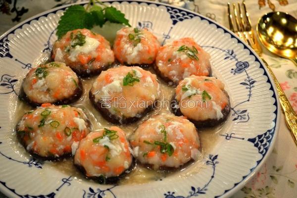 虾肉酿鲜菇的做法